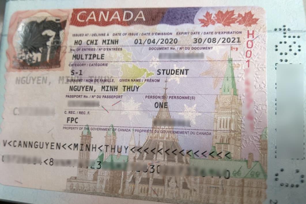 Visa du học Canada Nguyễn Minh Thùy
