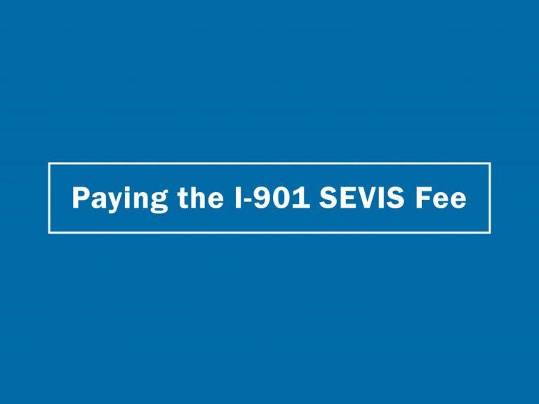 Ai phải đóng lệ phí SEVIS?